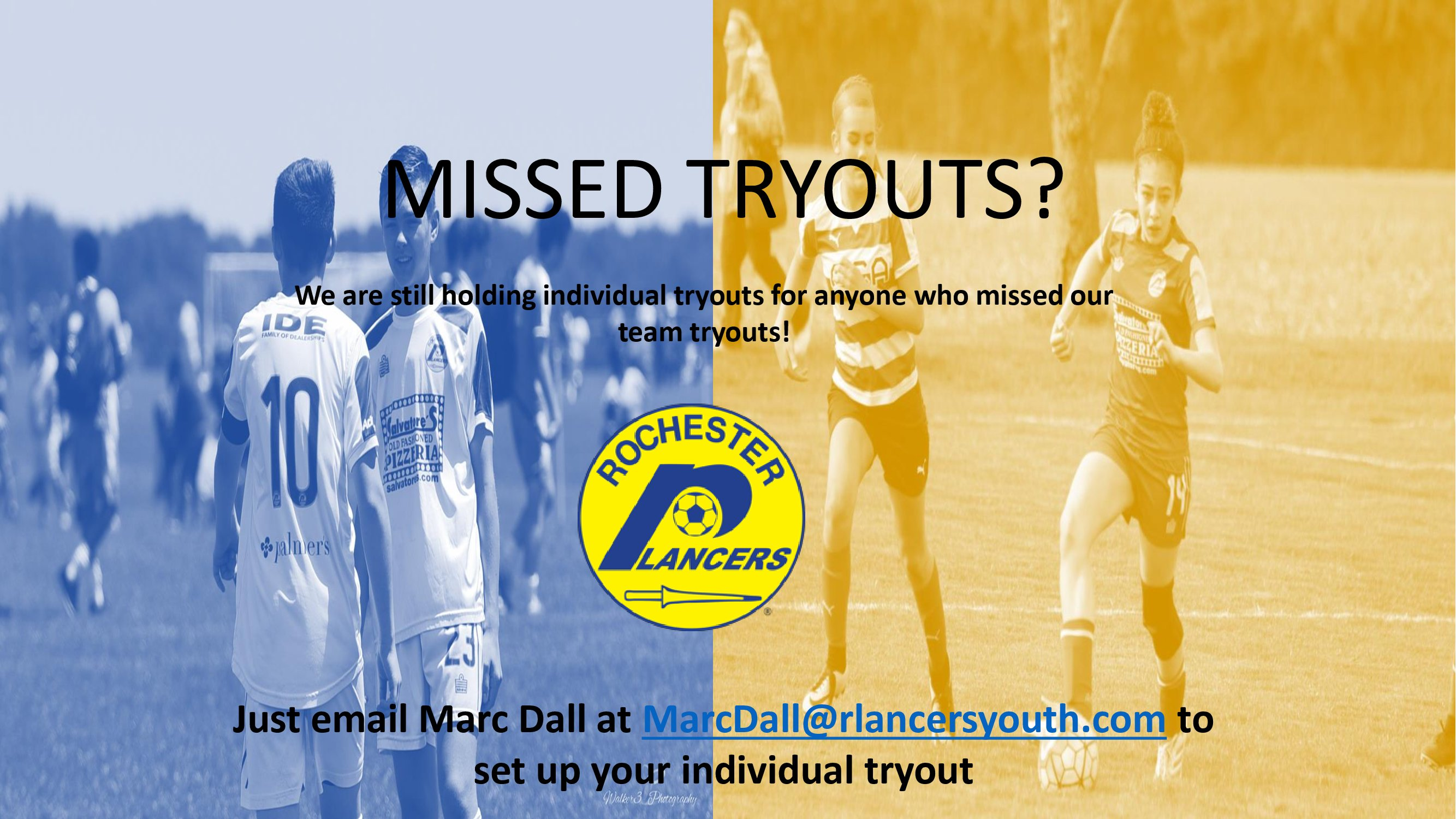 Missed Tryouts?