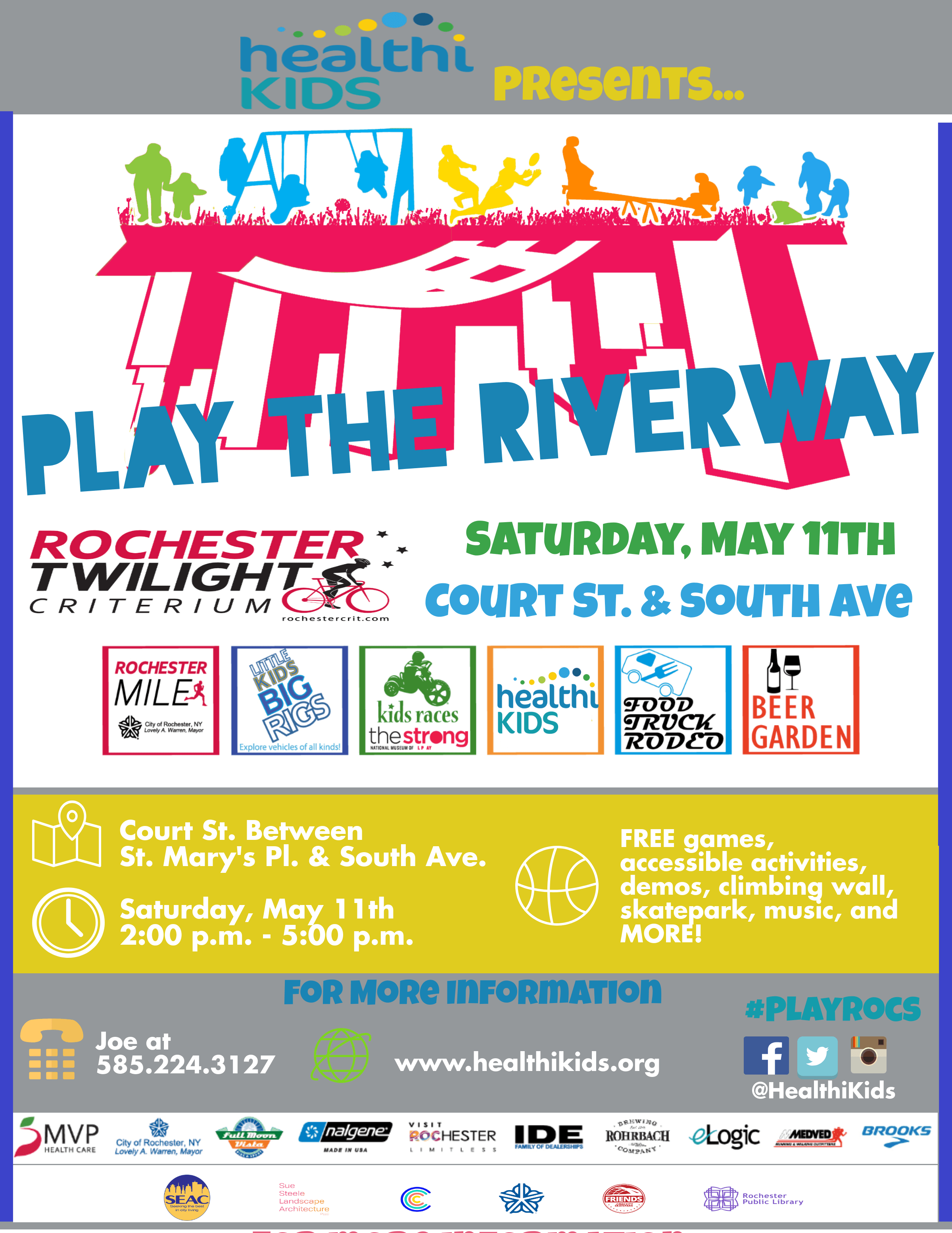 Join us for Play the Riverway May 11th!