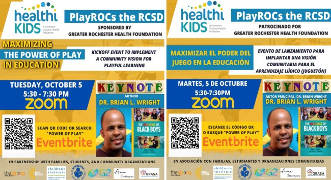 Press Release: National Early Childhood Expert to Kickoff Playful Learning Initiative for Rochester's Youth