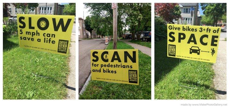 Safe driving campaign seeks help posting signs