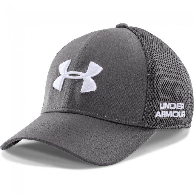 UA Grey Golf Mesh Stretch Fit Cap