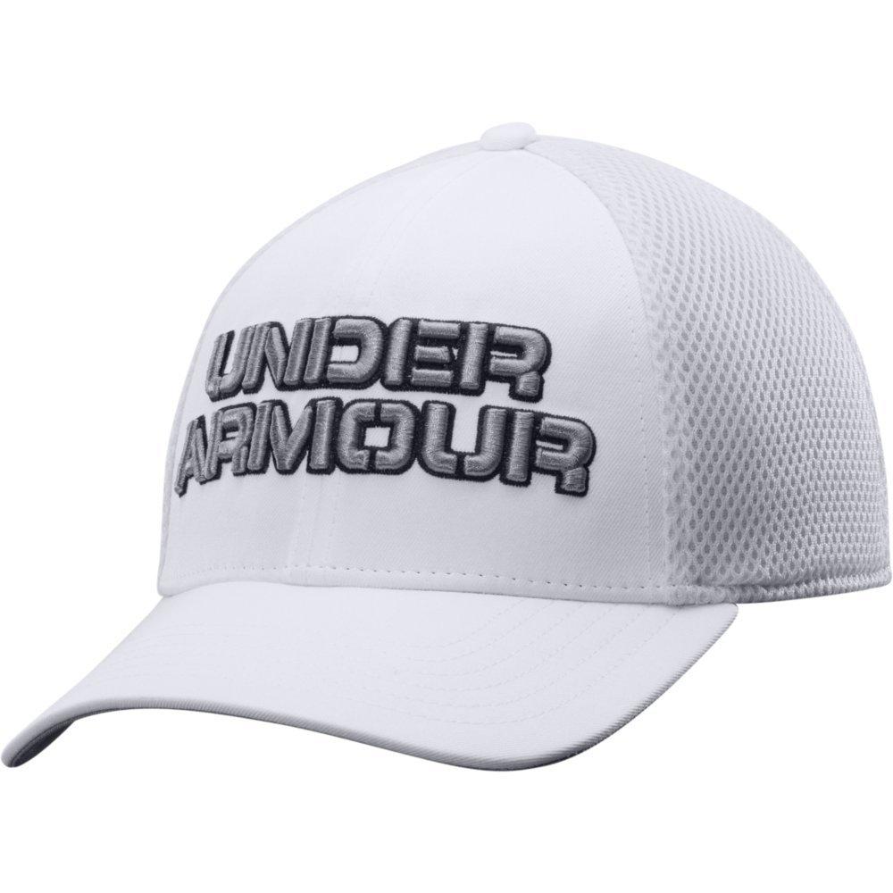 UA White Training Mesh Stretch Fit Cap