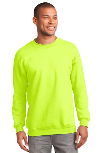 Safety Yellow Port & Company® - Essential Fleece Crewneck Sweatshirt
