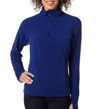 Ladies' Lightweight Microfleece Quarter Zip Pullover