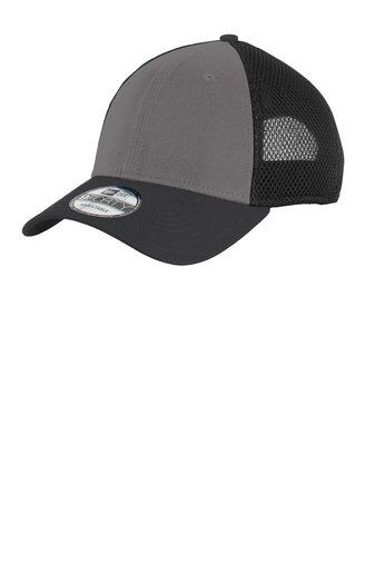 Snapback Contrast Front Mesh Cap - NE204 - Charcoal/Black
