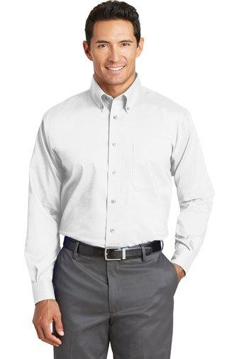Tall Nailhead Non-Iron Shirt - TLRH37 - White