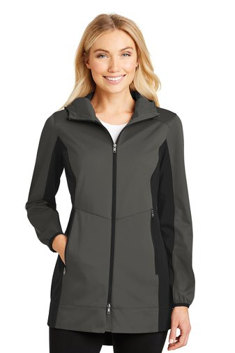 Hooded Soft Shell Jacket - L719 - Grey Steel/Deep Black