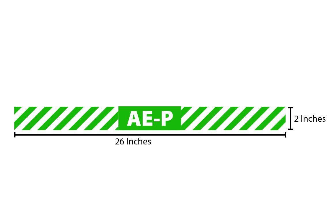 AE-P Reflective Sticker - Green Stripes