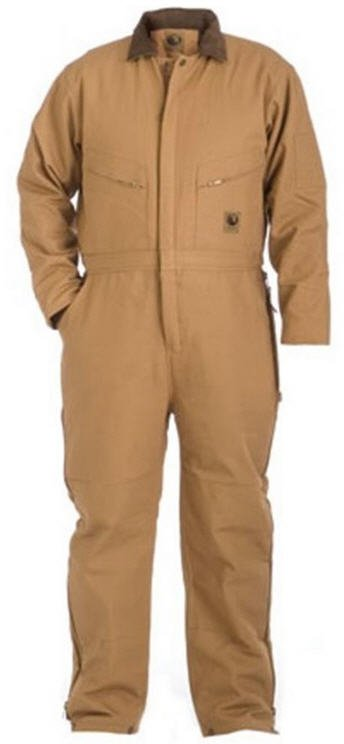 Berne Deluxe Brown Duck Insulated Coverall