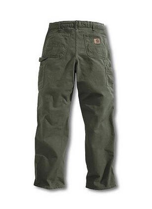 Carhartt B11 Moss Washed Duck Work Dungaree