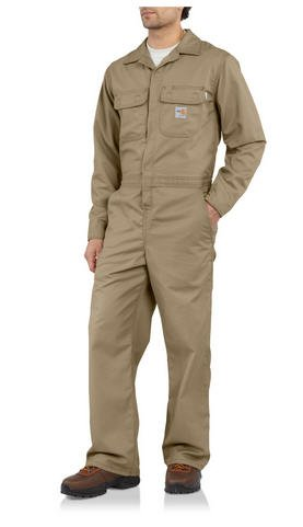 Carhartt Khaki Men's Flame-Resistant Unlined Coverall