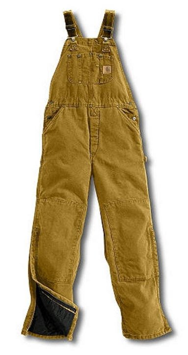 0f293fb3bf Carhartt Brown Quilt Lined Sandstone Bib Overall | Zonk Shop