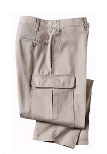 Dickies Khaki 100% Cotton Cargo Pant