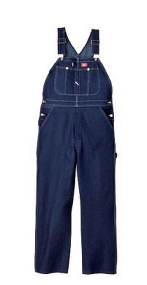 Dickies Indigo Denim Bib Overall-Garment Washed