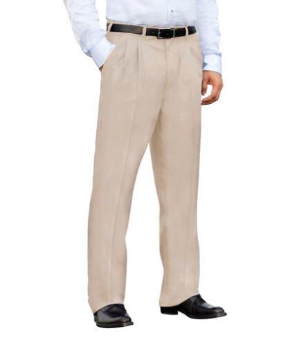 Dickies Khaki Blended Pleated Work Pant