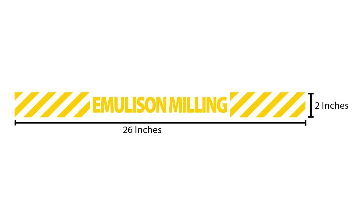 Emulsion Milling Reflective Sticker - Yellow Stripes