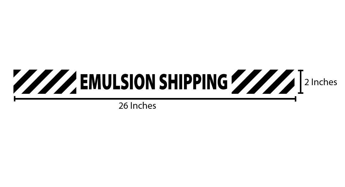 Emulsion Shipping Reflective Sticker - Black Stripes