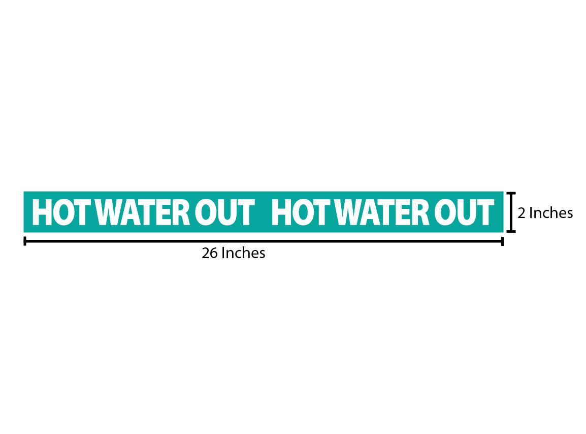 Hot Water Out Reflective Sticker - Teal