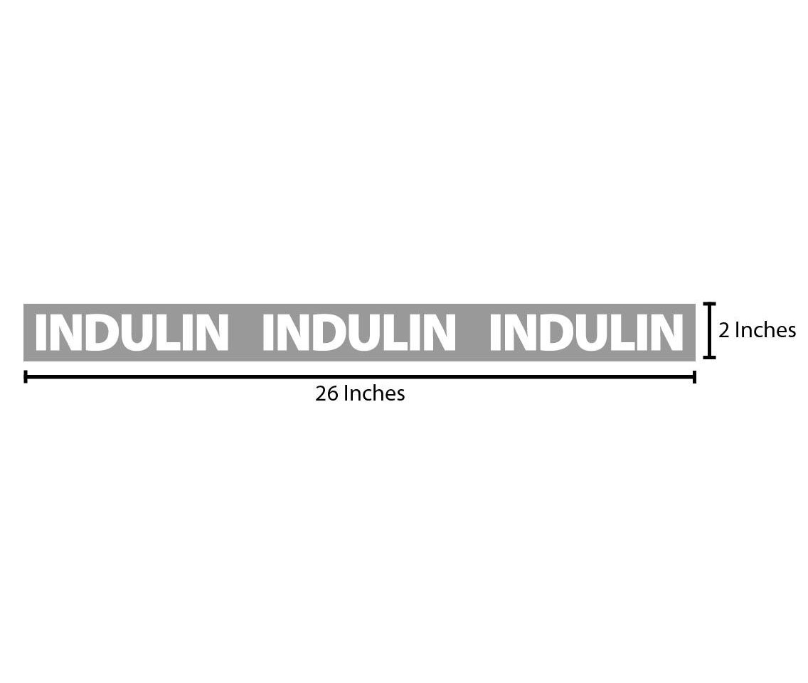 Indulin Reflective Sticker - Grey