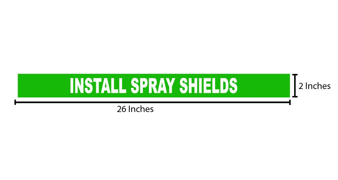 Install Spray Shield Reflective Sticker - Green