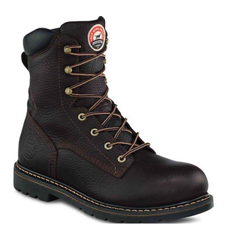 Irish Setter Brown Leather 8'' Aluminum Toe Boot