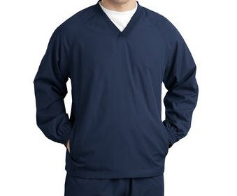Sport-Tek V-Neck Raglan Wind Shirt