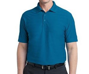Port Authority Horizontal Texture Polo
