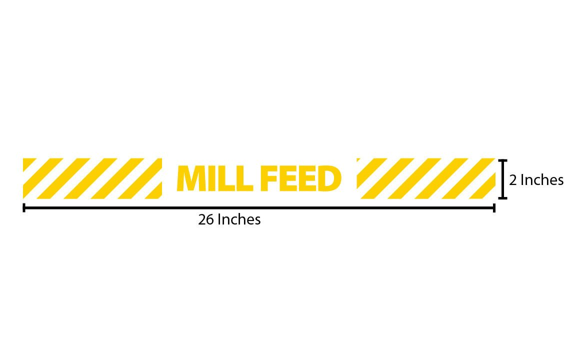 Mill Feed Reflective Sticker - Yellow Stripes