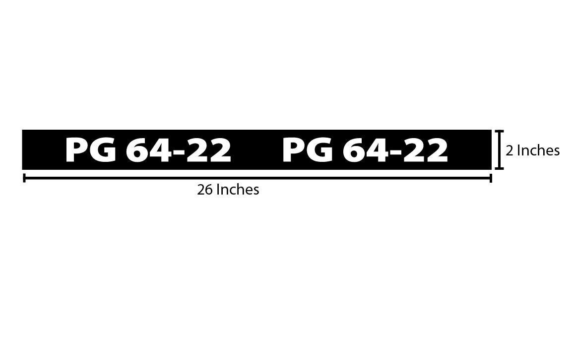 PG 64-22 Reflective Sticker - Black