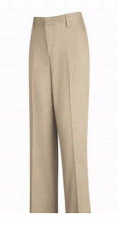 Women's Plain Front Casual Cotton Pant