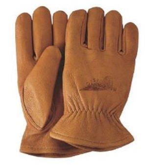 Carmel Buckskin Leather Gloves
