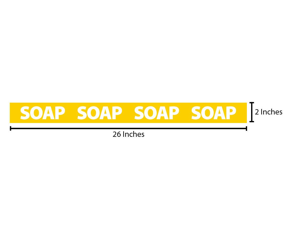 Soap Reflective Sticker - Yellow