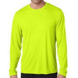 Long Sleeve Tee Shirt Safety Yellow