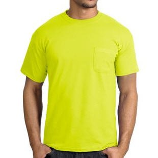 Safety Yellow Pocket Tee Shirt