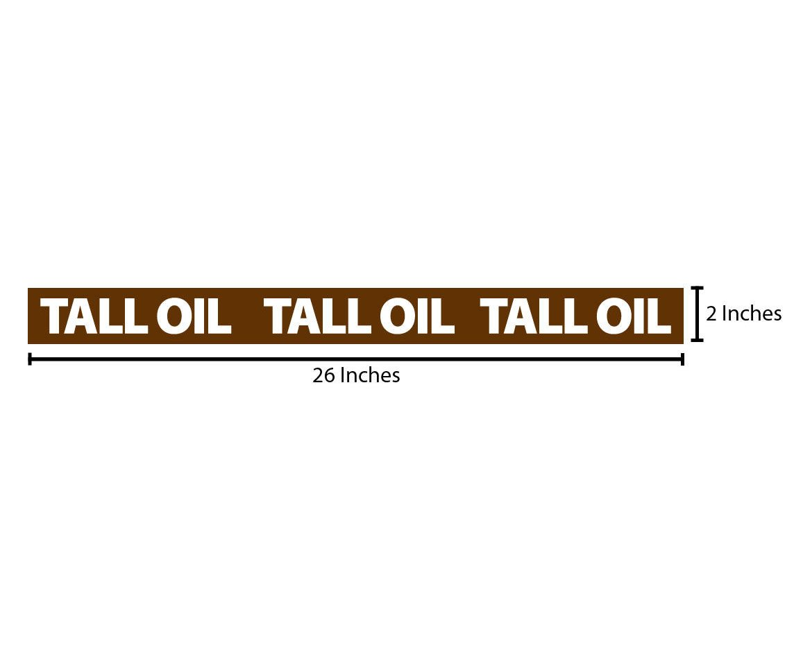 Tall Oil Reflective Sticker - Brown