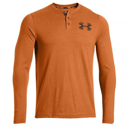 Under Armour Borderland Orange Waffle Henley