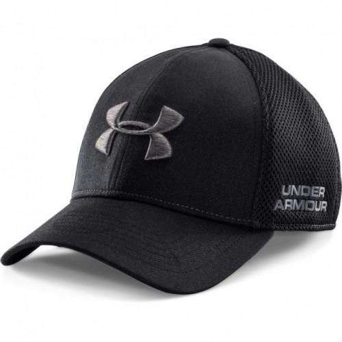 UA Black/ Grey Stretch Fit Golf Cap