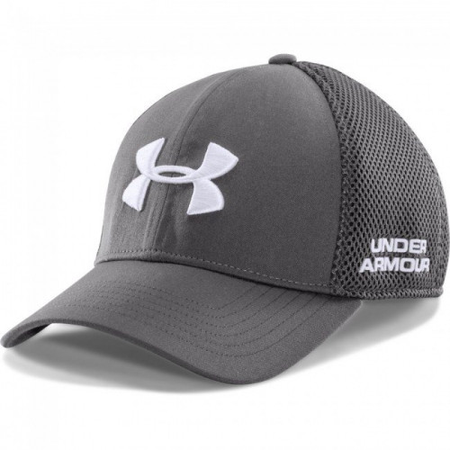 UA Grey Golf Mesh Stretch Fit Cap