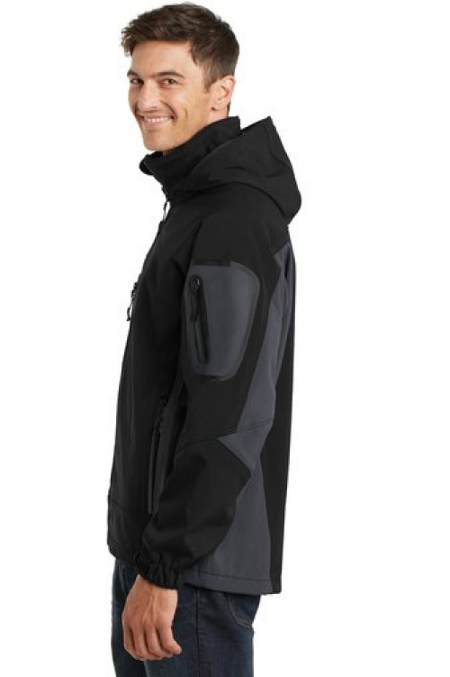 Waterproof Soft Shell Jacket - J798 - Black/Graphite - Also Available in Tall