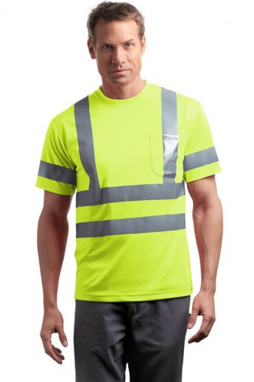 Class 3 Short Sleeve Snag-Resistant Reflective T-Shirt - CS408 - Logo Full Back