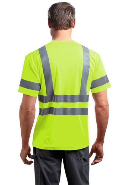 Class 3 Short Sleeve Snag-Resistant Reflective T-Shirt - CS408 - Logo Full Back