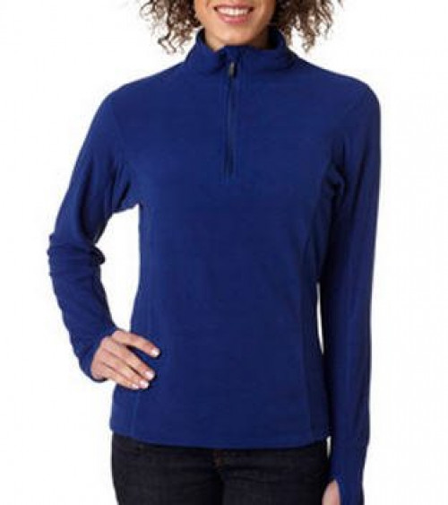 Ladies' Lightweight Microfleece Quarter Zip Pullover