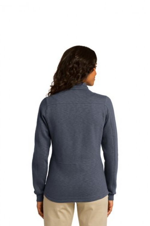 Ladies Slub Fleece Full-Zip Jacket - L293 - Slate Grey