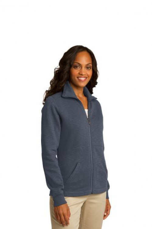 Ladies Slub Fleece Full-Zip Jacket - L293 - Slate Grey