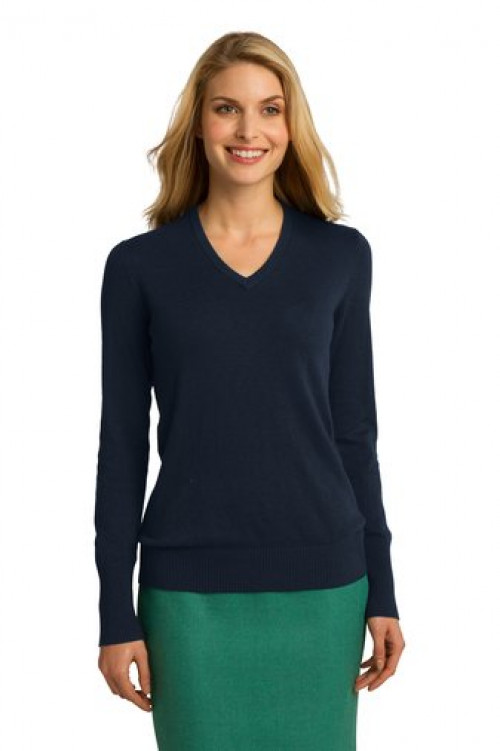 Port Authority® Ladies V-Neck Sweater - LSW285