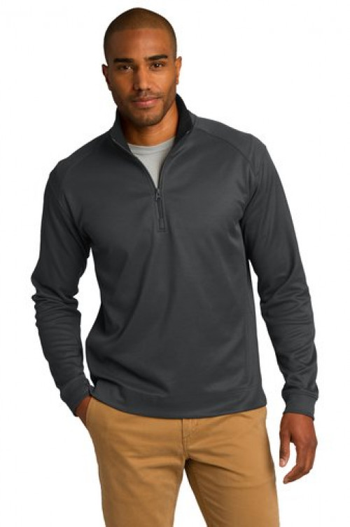 Vertical Texture 1/4-Zip Pullover - K805 - Iron Grey/Black
