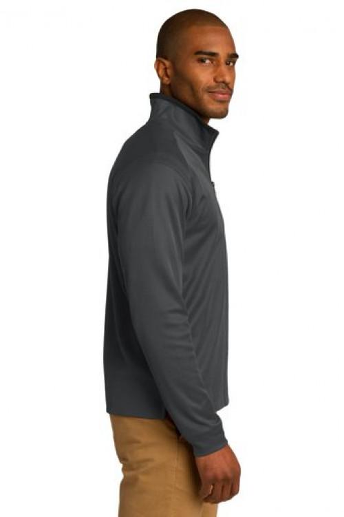 Vertical Texture 1/4-Zip Pullover - K805 - Iron Grey/Black