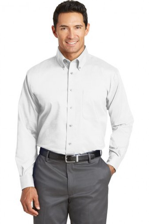 Tall Nailhead Non-Iron Shirt - TLRH37 - White