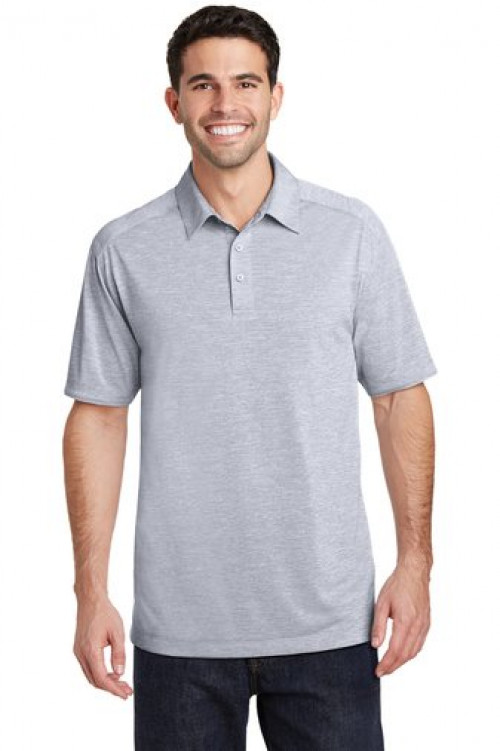 Digi Heather Performance Polo - K574 - Light Gray