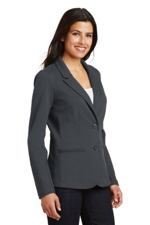 Ladies Knit Blazer - LM2000 - Battleship Grey